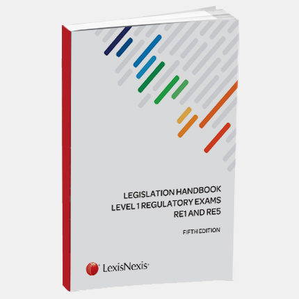 Legislation Handbook and Preparation Guide for the regulatory exams RE1 and RE5